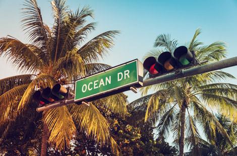 Oceans Drive in South Beach Miami