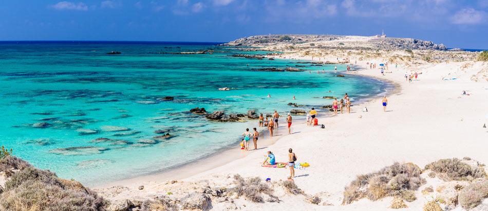 Strand von Elafonissi auf Kreta