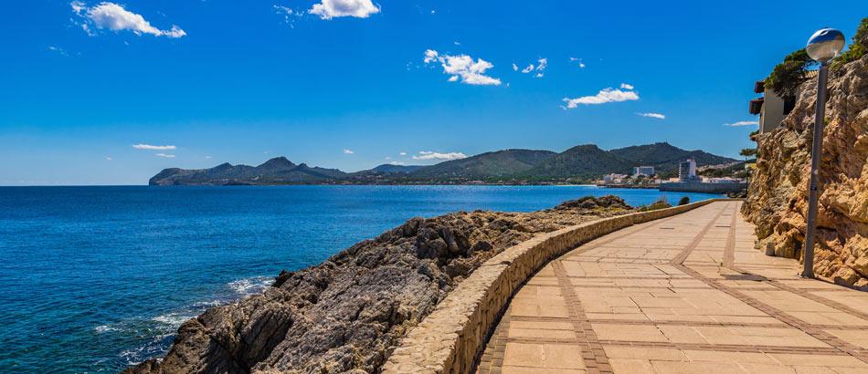 Promenade in Cala Ratjada, Majorca