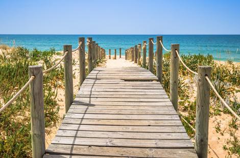 Faro-Strand in Algarve