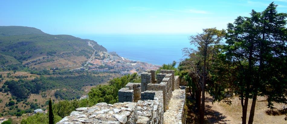 Sesimbra - Ausblick von Moorish Castle