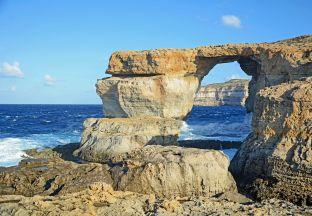 Blaues Fenster Malta