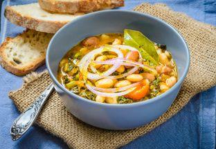 Gemüsesuppe mit Bohnen Florenz