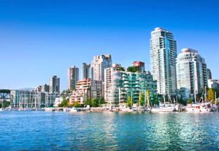 Skyline Vancouver Flughafen