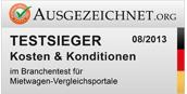 ausgezeichnet.org Testsieger Mietwagen Kosten & Konditionen